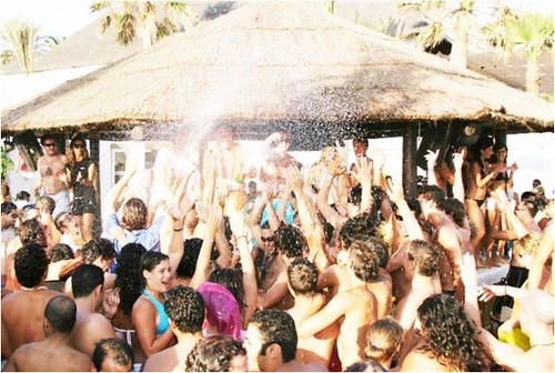 Champagne beach party