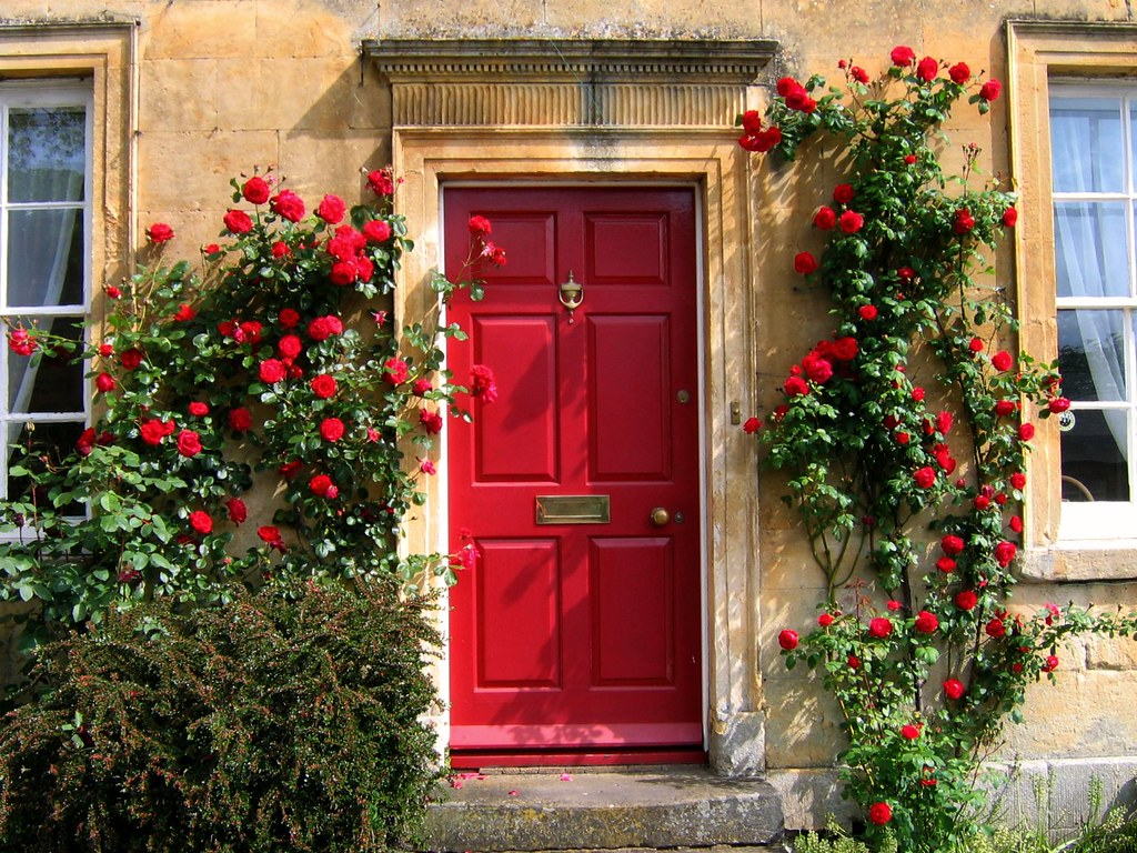 On Black Red Door In The Cotswolds By Ugardener Large