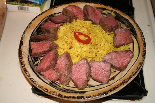 Dinner - Steak & Rice