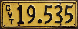 NEW ZEALAND 1961-66 Government vehicle plate