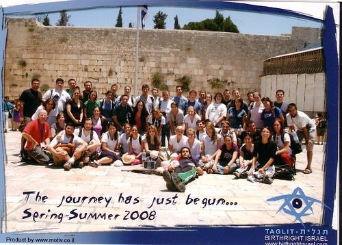 The group at the Kotel