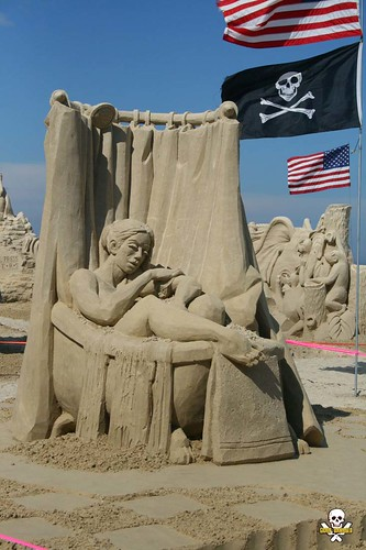 new summer sculpture woman castle beach lady nude sand bath contest competition hampshire hampton