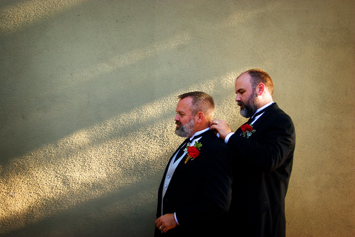 Dan and Chris, freshly married
