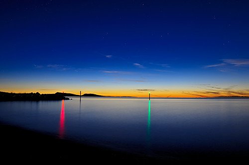 blue light sunset vacation reflection water night outdoors island lights evening washington nikon nightscape post pacific northwest indigo pacificnorthwest wa bluehour sanjuans sanjuanislands rgb pnw orcas d300 longtimeexposure catchycolorsblue