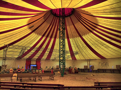The big tent and stage (HDR)