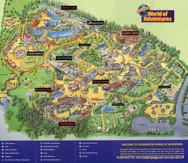 Chessington World Of Adventures 1993 Map Flickr Photo
