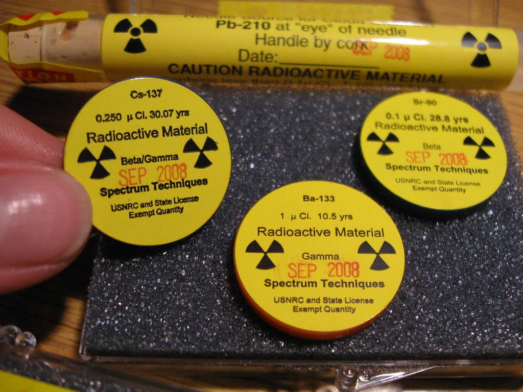 Caesium 137, Strontium 90, Barium 133, Lead 210 - a photo