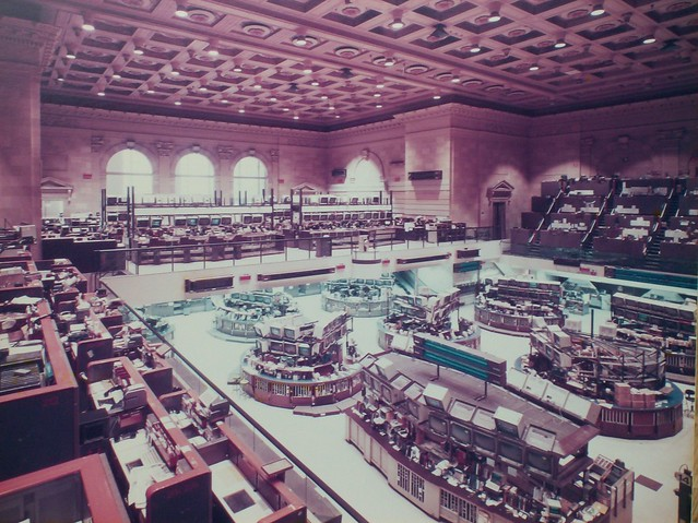 The Old American Stock Exchange Trading Floor; ca. 1980's