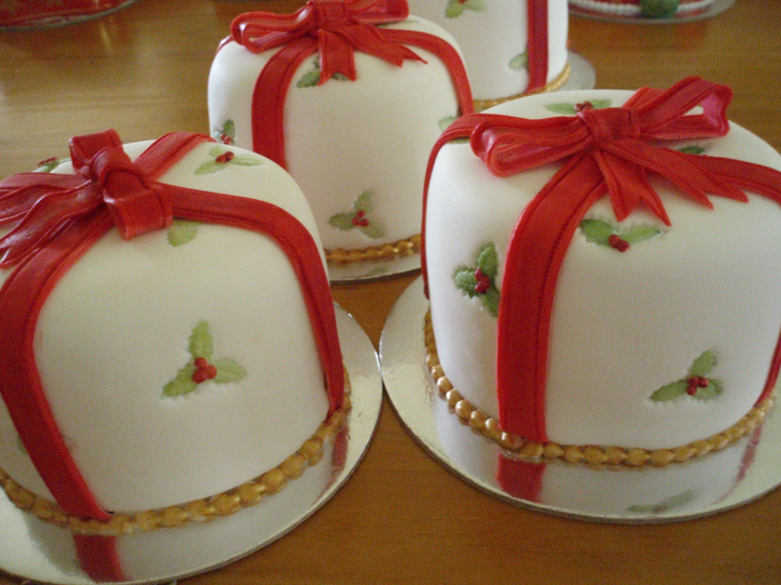 Small Christmas Cake Images : Galeria de bonitos pasteles de Navidad. Ideas y material ...