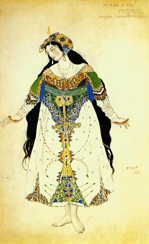 L'Oiseau de feu - 1910 - costume de la tsarine