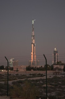 Burj Dubai after sunset