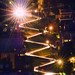 Lombard Street at night seen from Coit Tower. by davidyuweb