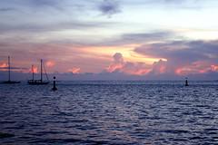 Pink Clouds at Sunset in Tahiti