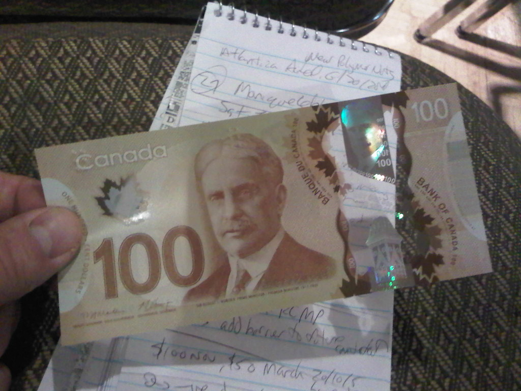 Canada's new polymer $100 bill is unveiled at the Atlantica Hotel in