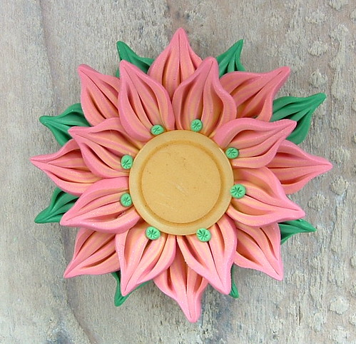 Tropical Pink Lemonade Flower Pendant
