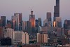 Chicago Skyline at Sunset by Theory