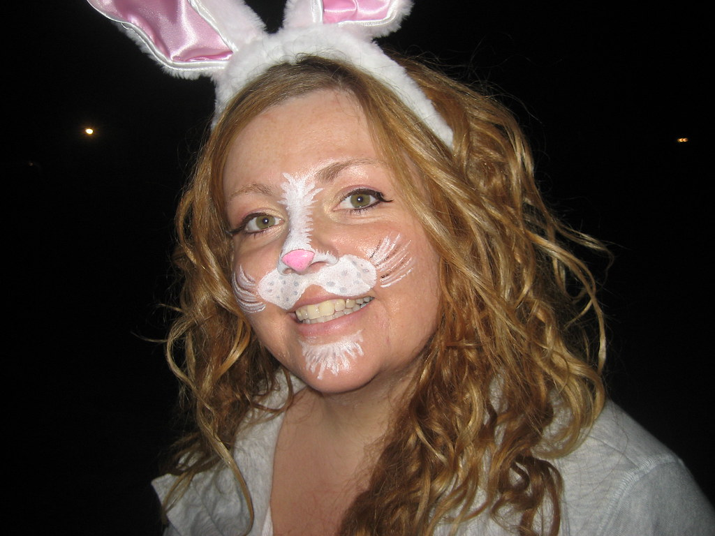 simple bunny rabbit snout face painting a photo on flickriver. Black Bedroom Furniture Sets. Home Design Ideas