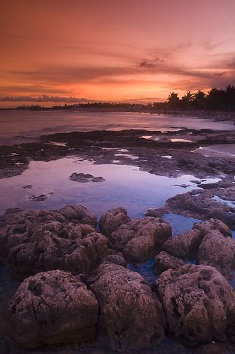 ocean sunset mexico rocks cancun roq goldblue singhray abigfave ndgrads ysplix theunforgettablepictures theperfectphotographer