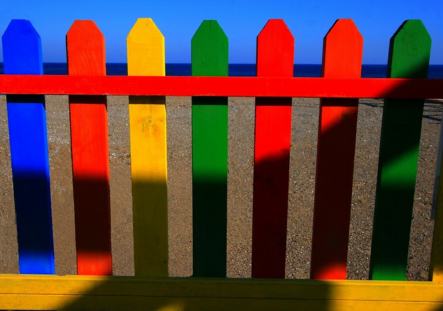 Multi colored wooden fence flickr photo sharing