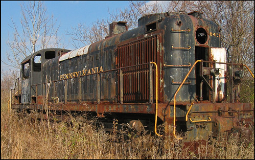 railroad abandoned train rust decay locomotive siding prr swedelandpa