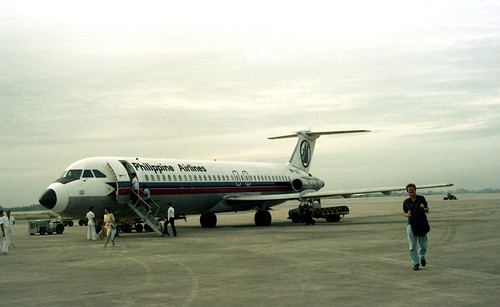 A Philippine Airlines BAC 1-11 Registration No RCP 1171 at Cebu's Mactan Airport in the Philippines.