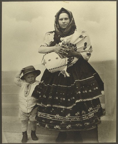 [Slovak woman and children.]