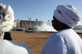 The inauguration of the damn at Merowe took place on March 3, 2009 in Sudan. The following day the ICC issued an arrest warrant against President Omar Hassan al-Bashir. by Pan-African News Wire File Photos