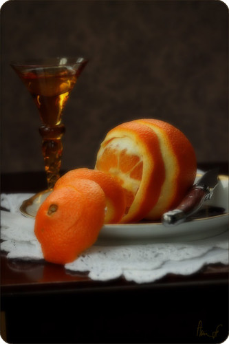 still life with orange