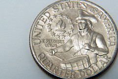 quarter, money, silver, coin, currency,
