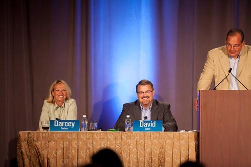 Darcey Forbes, David Seiler and Jim Kjolhede onstage.