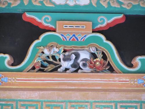 Famous sleeping cat at Toshogu Shrine