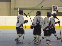 roller hockey(0.0), roller in-line hockey(0.0), box lacrosse(0.0), bandy(0.0), stick and ball games(1.0), ball hockey(1.0), sports(1.0), team sport(1.0), ice hockey(1.0), hockey(1.0), defenseman(1.0), college ice hockey(1.0), ball game(1.0),