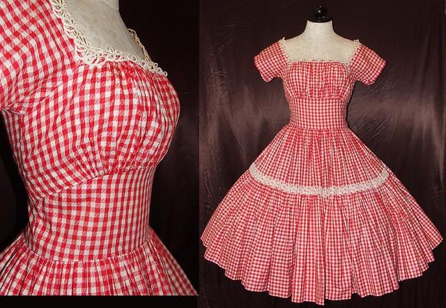 Red Gingham Dress - RP Dress