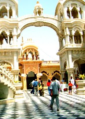 ISKCON Temple in Vrindavan Abhishek Janmashtami in Vrindavan/India 2008,  Janmashtami 2013 is Wednesday 28 August.