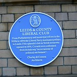 Leeds & County Liberal Club Blue Plaque