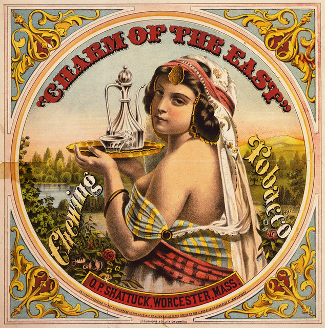 Charm of the East, tobacco label, ca. 1872