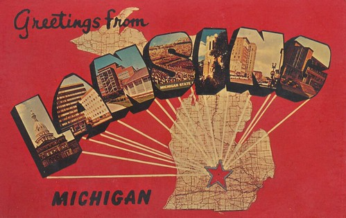 Greetings From Lansing, Michigan by The Pie Shops Collection