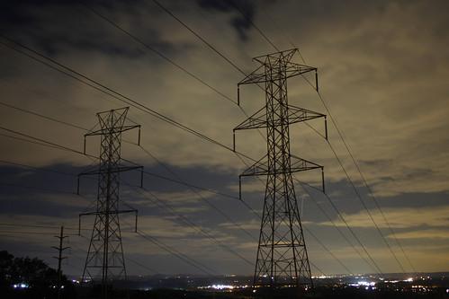 longexposure sky lines night clouds dark newjersey high power nocturnal towers nj electricity tension atnight wandering nocturne morrisplains
