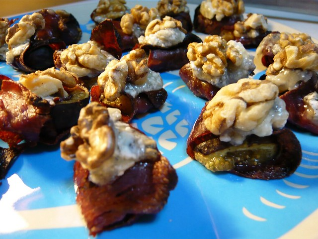 Prosciutto-Wrapped Figs with Gorgonzola and Walnuts | Flickr - Photo ...