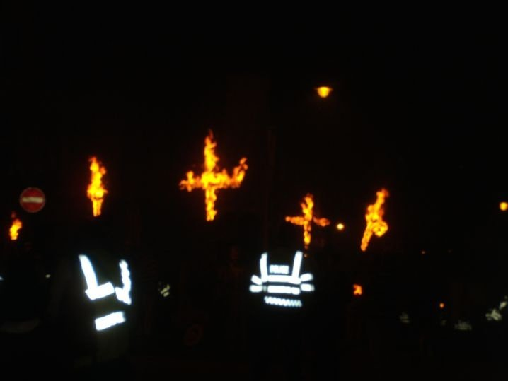 Burning crosses The crosses remember protestant martyrs. Lewes circular via Rodmell Lewes bonfire night