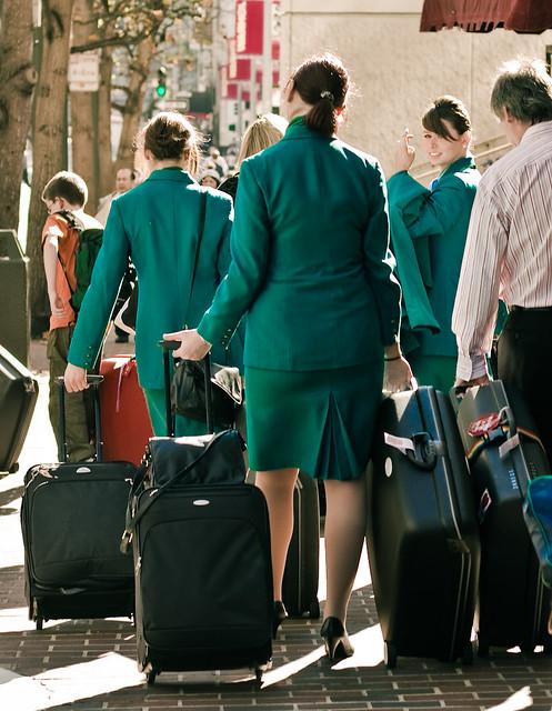 aer lingus flight attendants i love the green