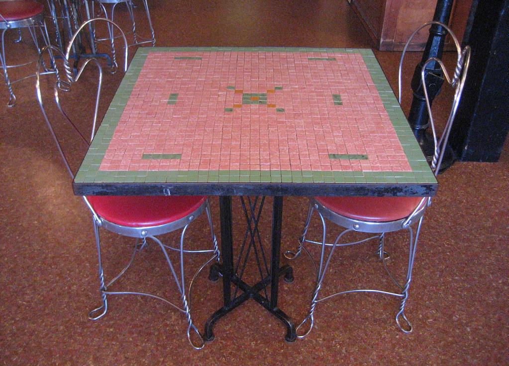 Ice cream parlour table
