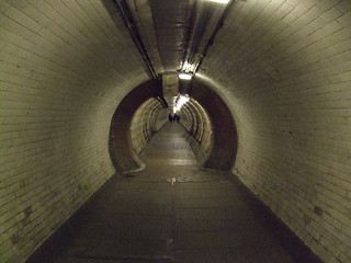 Inside The Greenwich Foot Tunnel Under The Thames, London.