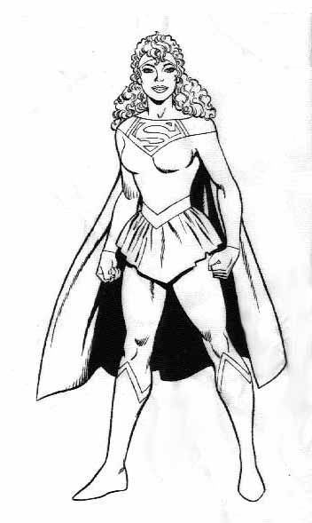 Fortress of solitude trophy room dc licensing art by mike for Supergirl coloring page