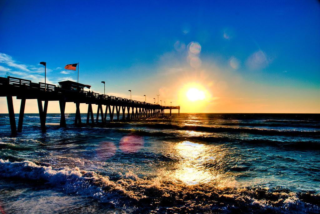Hdr Beach Wallpaper Venice Beach Pier Sunset Hdr