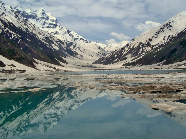 Lake Saiful Muluk (سیف الملوک) In the Lake Saiful Muluk National Park, Kaghan Valley, Pakistan - June 2009