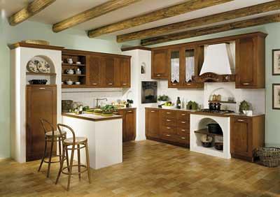 Cucina con forno ad angolo incassato nella muratura - Cucine con forno alto ...