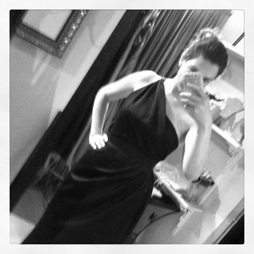 Trying on bridesmaid gown after bridesmaid gown after...