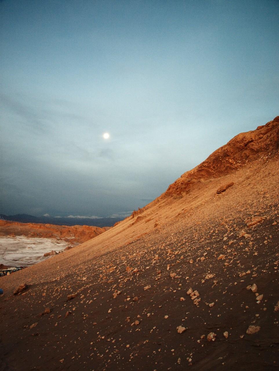 Atardecer en el Valle de la Luna