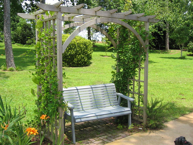 Garden bench and arbor flickr photo sharing - Arbor bench plans set ...